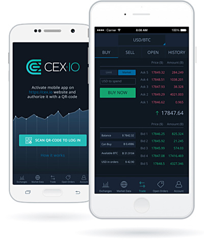 cex.io mobile app